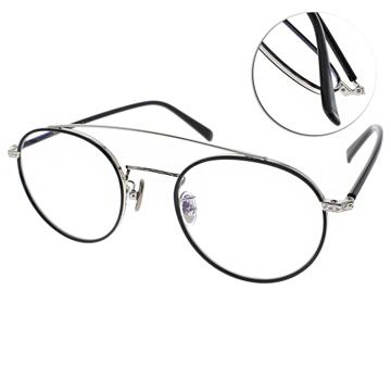 NINE ACCORD 眼鏡 韓系圓框 黑銀 PLACO OLIVER C04