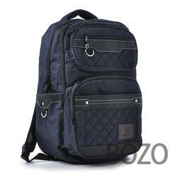 【BOZO柏樂】韓國雙色布防水厚質後背包6022-質感黑