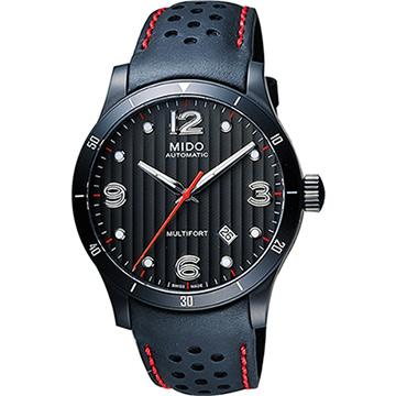 MIDO Multifort 先鋒系列時尚機械腕錶-鐵灰x黑x紅/42mm M0254073606100