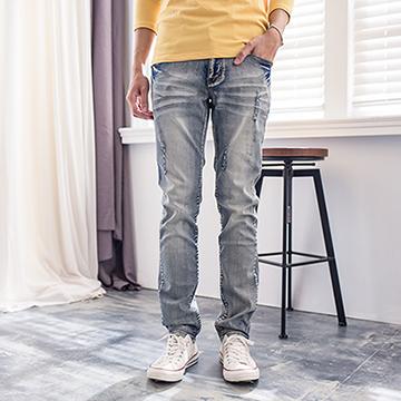 【FATAN】韓系刷白破牛仔褲