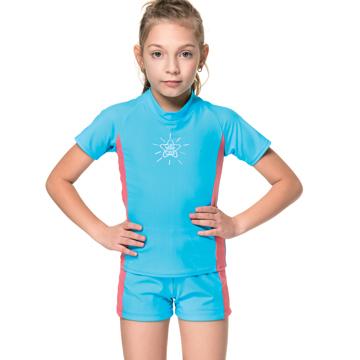 沙兒斯 兩件式防曬兒童泳裝 B86807