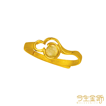 今生金飾 福田聚財戒 時尚黃金戒指