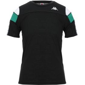 《セール開催中》KAPPA メンズ T シャツ ブラック S ポリエステル 100%