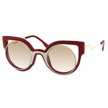 FENDI-時尚造型 太陽眼鏡(紅 + 白色)