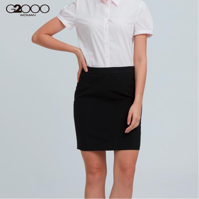 G2000商務平紋套裝裙-黑色