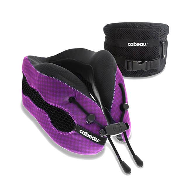 CABEAU 酷涼記憶棉頸枕2.0 科幻紫