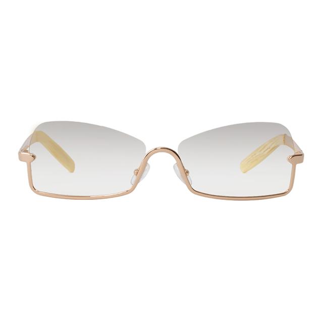 Gianfranco Ferré 義大利 質感金屬下框太陽眼鏡 / 金GF54401