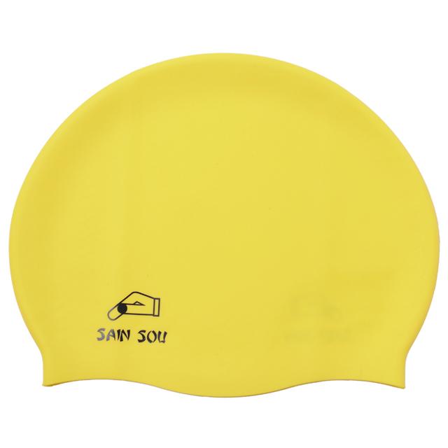 聖手牌 黃色矽膠泳帽 A35001-04