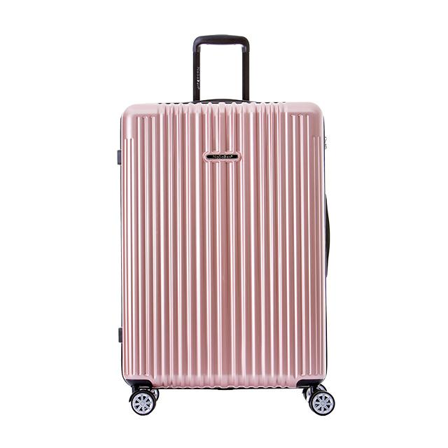 【NaSaDen 納莎登】新無憂系列26吋TSA海關鎖拉鍊行李箱(玫瑰金)