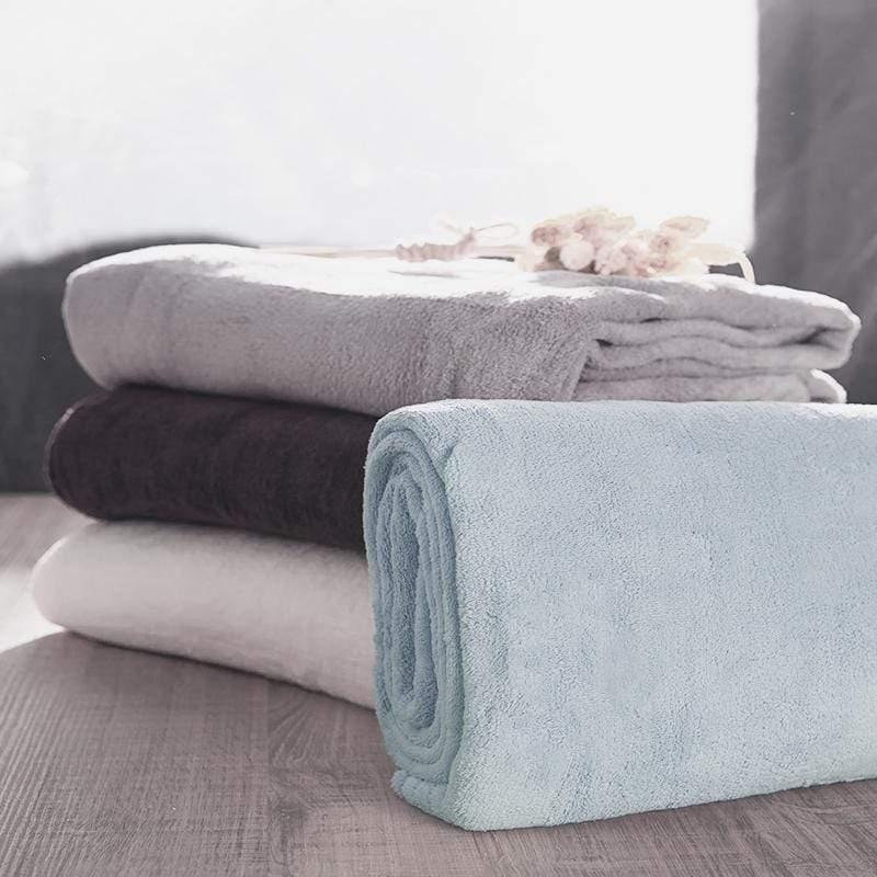 舒適快乾浴巾 - 2入組 浴巾-巧克力+浴巾-巧克力