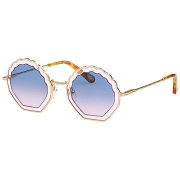 CHLOE 名人愛用款 太陽眼鏡 金色 CE147S-833