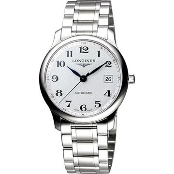 LONGINES 浪琴 Master 巨擘系列機械腕錶 銀白 36mm L25184786