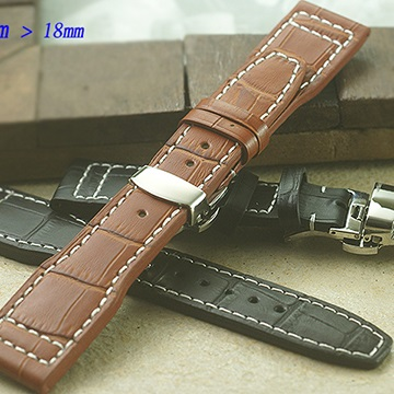全新 高級軍錶專用摺疊扣錶帶-仿舊限定版 ( 22mm) 適用 IWC.各式錶款