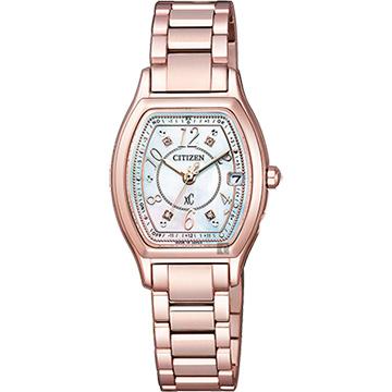 CITIZEN 星辰 XC 綻放時刻鈦金屬腕錶 ES9356-55W