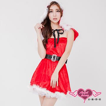 【天使霓裳】童話女孩 木屋渡假聖誕派對 可愛耶誕服 角色服(紅)