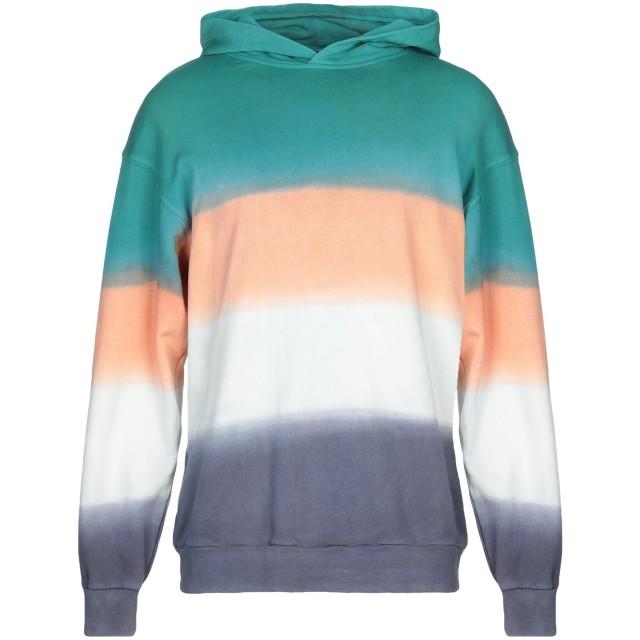 《セール開催中》BONSAI メンズ スウェットシャツ ディープジェード M コットン 100%