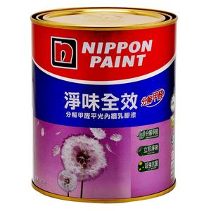 立邦淨味全效乳膠漆蘭花白1L