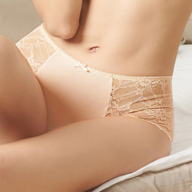【EASY SHOP】微甜粉漾 中腰平口褲(粉膚色)