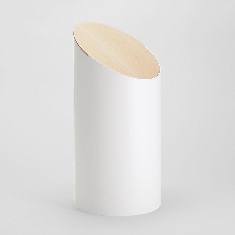 MOHEIM SWING BIN 白色 楓木垃圾桶