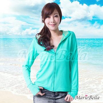 Marie Bella 高涼感透氣抗UV防曬外套 綠 M/L