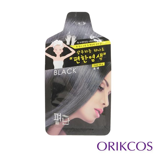 【Pyeonan】白髮專用5分鐘高效便捷染髮霜30g (黑色)