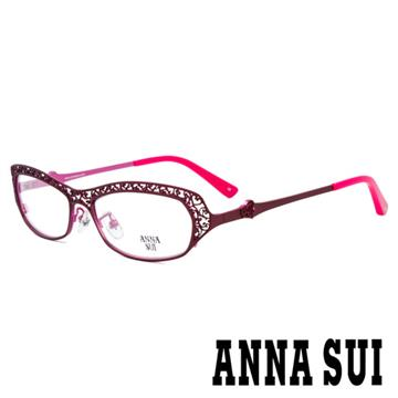 【ANNA SUI】安娜蘇 香氛花園簡約簍空設計光學眼鏡(啞光粉/桃紅) AS172-200