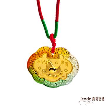 J'code真愛密碼  富貴元寶雞黃金彌月木盒-0.1錢