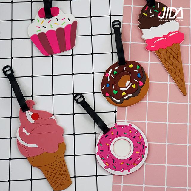 【韓版】Q版可愛行李箱吊牌-交通工具/甜食款