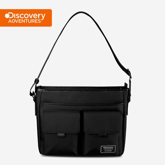 【Discovery Adventures】City雙層立體口袋側背包(大)-黑色(DA-B27206-BK)