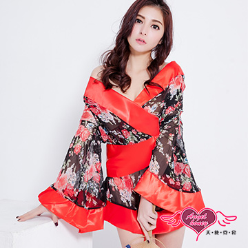 天使霓裳 性感和服 完美極致角色扮演 (黑紅F)