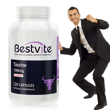 美國BestVite  必賜力牛磺酸1000mg膠囊 1瓶120顆