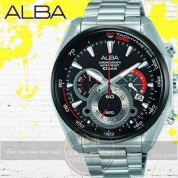 ALBA劉以豪代言前衛潮流三環計時型男腕錶VK63-X027D/AU2197X1公司貨