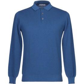 《セール開催中》FILIPPO DE LAURENTIIS メンズ プルオーバー ブルー 50 コットン 100%