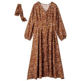 [マルイ] フロントボタン&タックプリントワンピース/ジーラ バイ リュリュ(ファッション)(GeeRA (fashion))