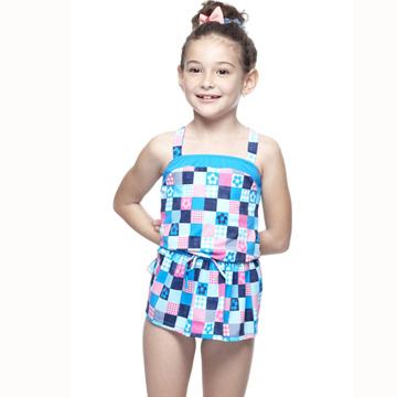 【SAIN SOU】MIT女童兩件式泳裝附泳帽A82427
