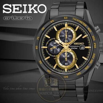 SEIKO日本精工CRITERIA系列太陽能計時腕錶/42mm V176-0AL0K/SSC409P1公司貨