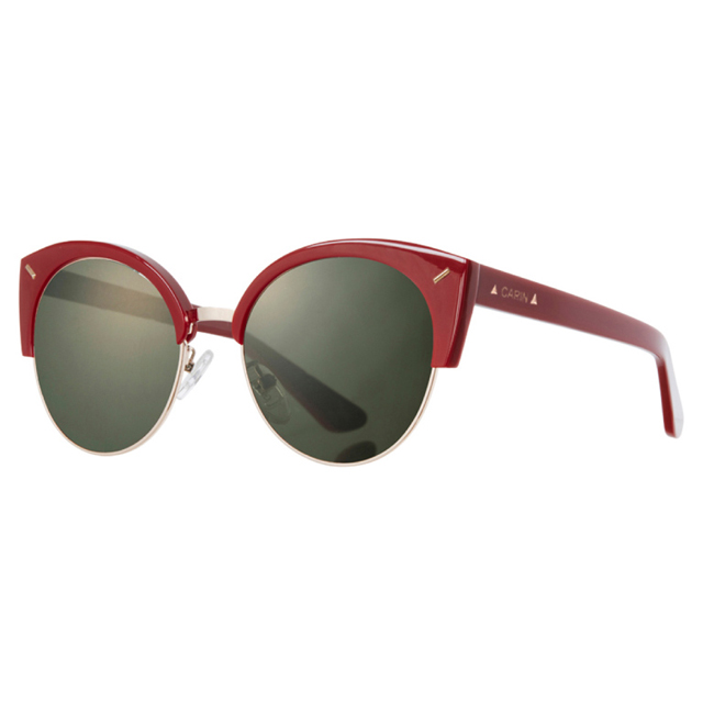 CARIN 韓國秀智Suzy代言 引領韓流各大名星指定愛用品牌- 上眉框太陽眼鏡.紅 Röxy-C2