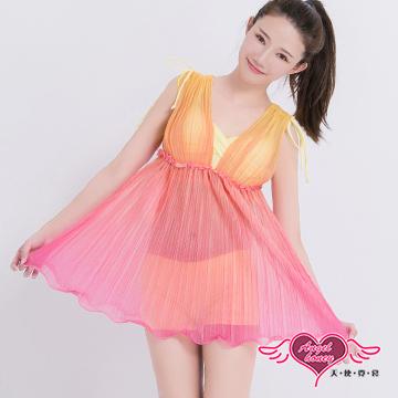 天使霓裳 泳衣 愛戀虹彩 兩件式鋼圈泳裝(黃M~2L)