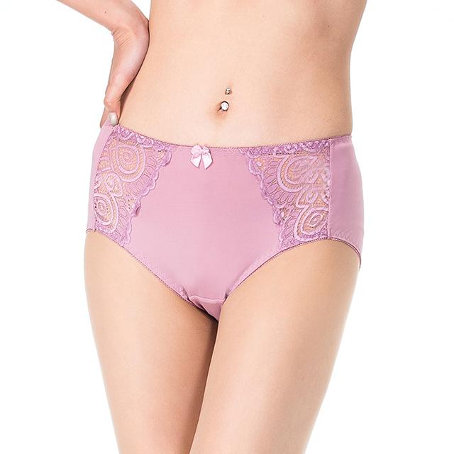 【K's 凱恩絲】MIT專利蠶絲超柔感蕾絲側邊內褲-mo8款(紫)