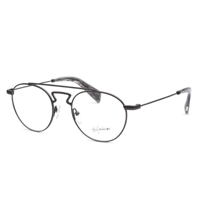 Yohji Yamamoto 山本耀司 復古雙樑圓框時尚光學眼鏡【鐵灰】YY3004-902
