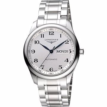 LONGINES 浪琴 Master 巨擘系列機械腕錶 銀 38.5mm L27554786