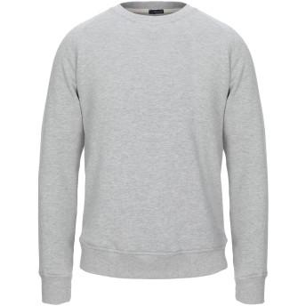 《セール開催中》(+) PEOPLE メンズ スウェットシャツ ライトグレー M コットン 100%