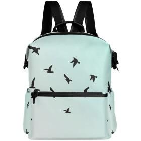 鳥 飛び 青空 リュック 学生用 デイパック レディース 大容量 バックパック 男女兼用 機能性 大容量 防水性 デザイン 旅行 ブックバッグ ファション