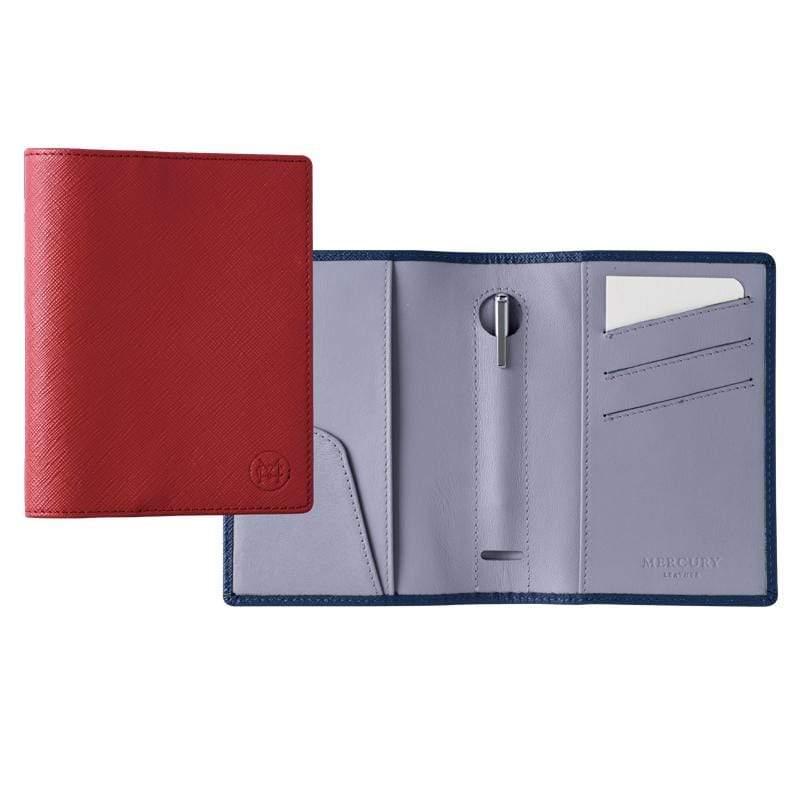 真皮護照夾套 (可提供烙印客製服務) 深藍