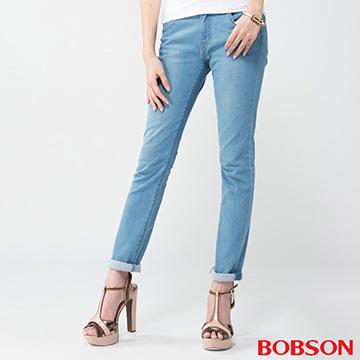 BOBSON 女款膠原蛋白小直筒褲
