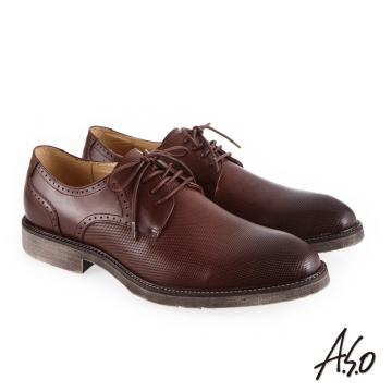 A.S.O 健步通勤 休閒輕盈紳士鞋-咖啡