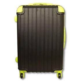 スーツケース キャリーケース Mサイズ 中型 TSAロック付き (ブラック&グリーン)