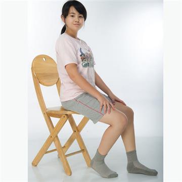 【KEROPPA】7~12歲學童專用毛巾底氣墊短襪x4雙(男女適用)C93002灰色