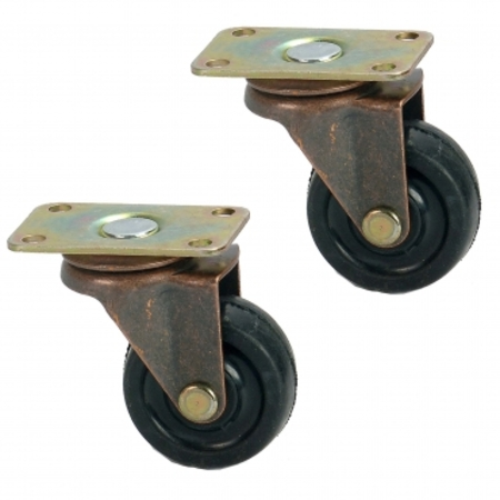 40MM 平板式橡膠重型傢俱腳輪
