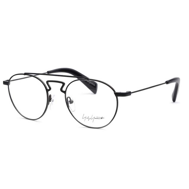 Yohji Yamamoto 山本耀司 復古雙樑圓框時尚光學眼鏡【哑光黑】YY3004-002
